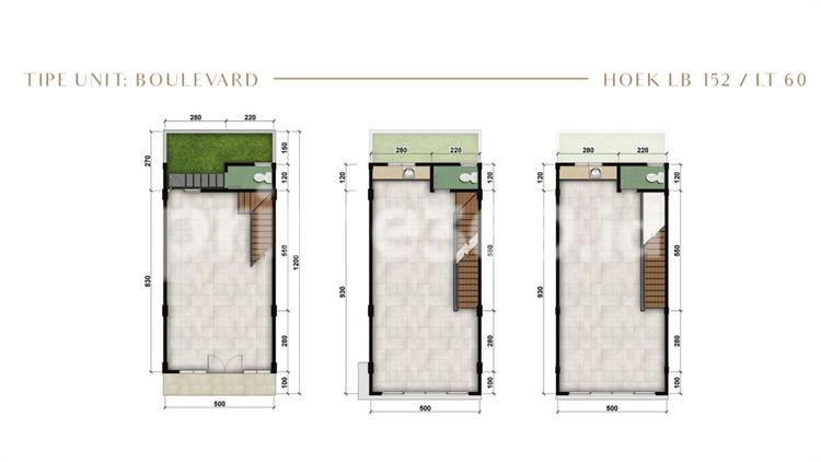 Boulevard - Hoek LB 152 / LT 60